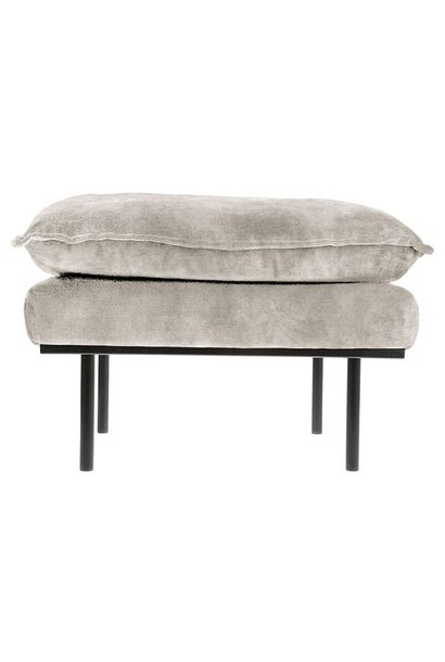 Hocker retro sofa: hocker, vintage velvet, crème white