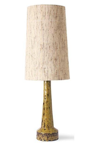 Lampenkap cone lamp shade silk natural (ø36cm)