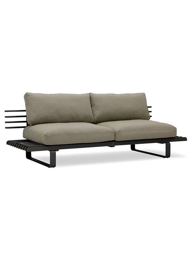Bank aluminium outdoor lounge sofa charcoal
