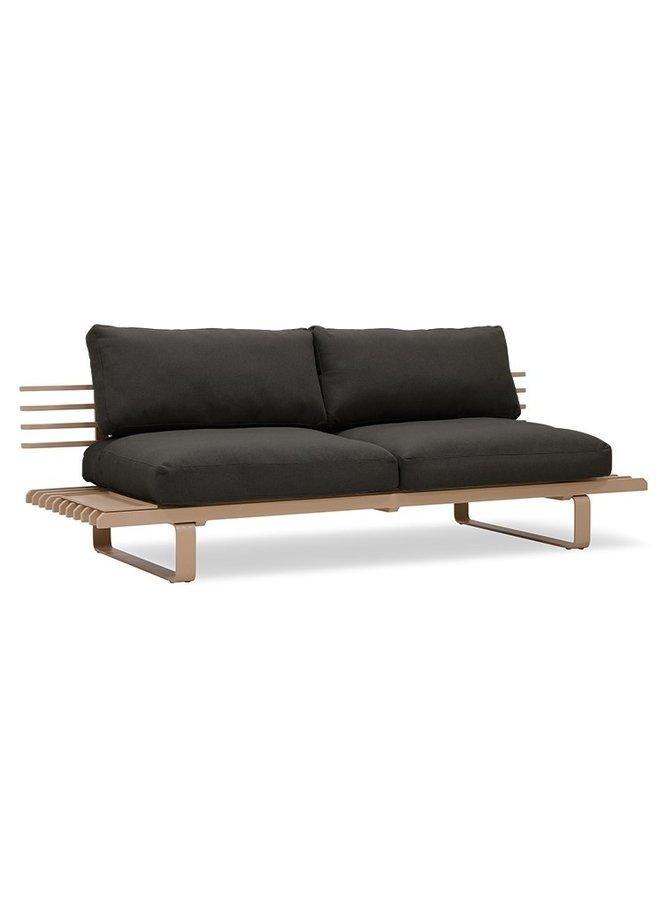 Bank aluminium outdoor lounge sofa chai