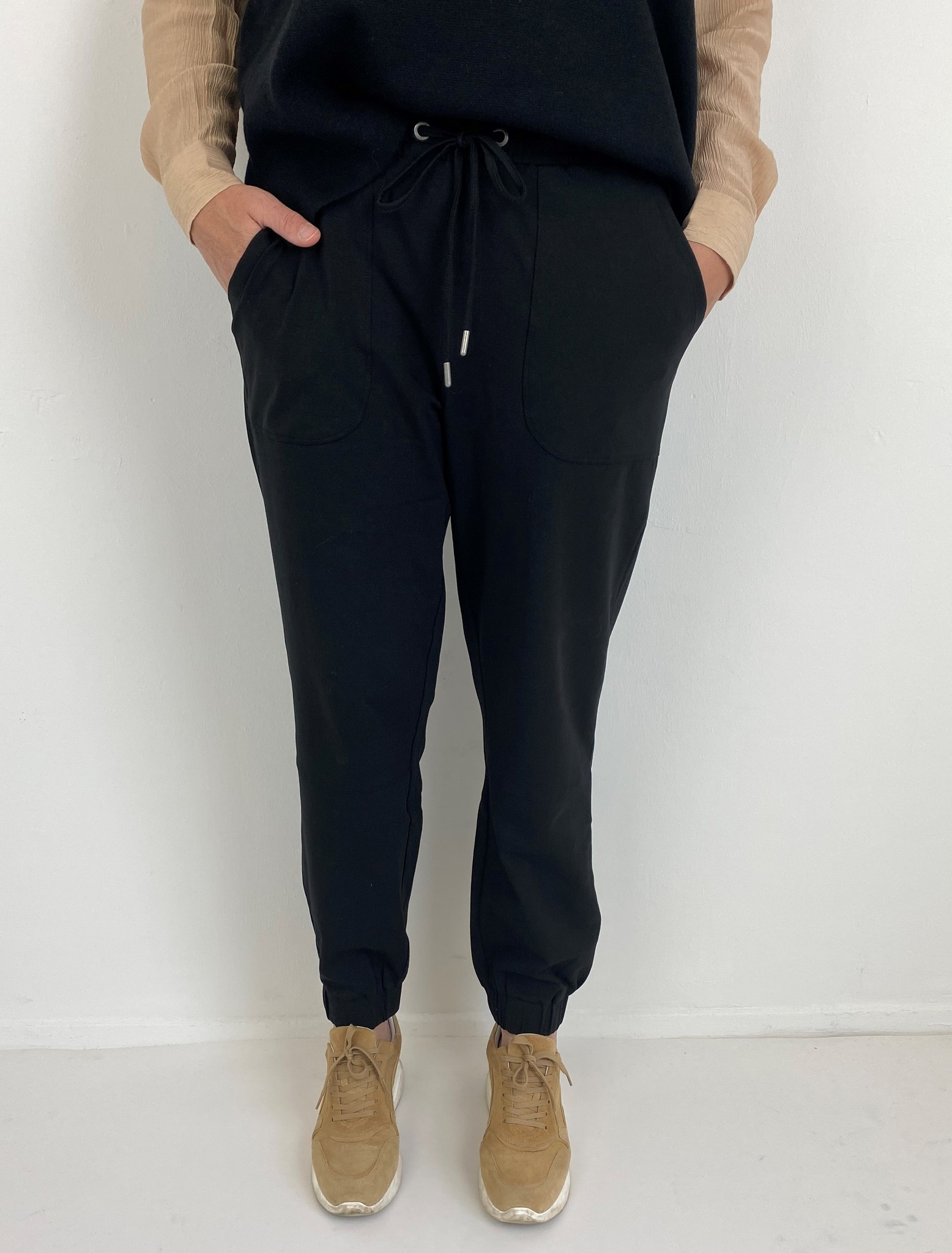 Broek KAdana Linda pants black deep-1
