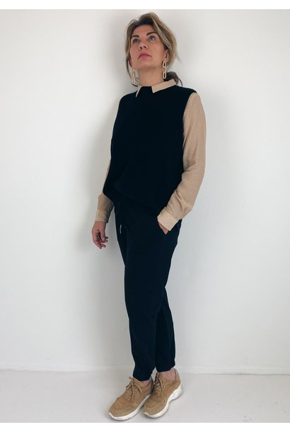 Trui spencer KAkitt short knit slipover black deep