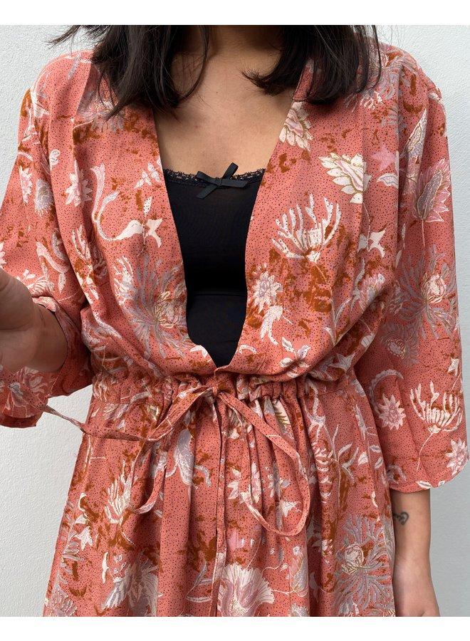 Jurk kimono CRJohui kimono EV saraza flower mix