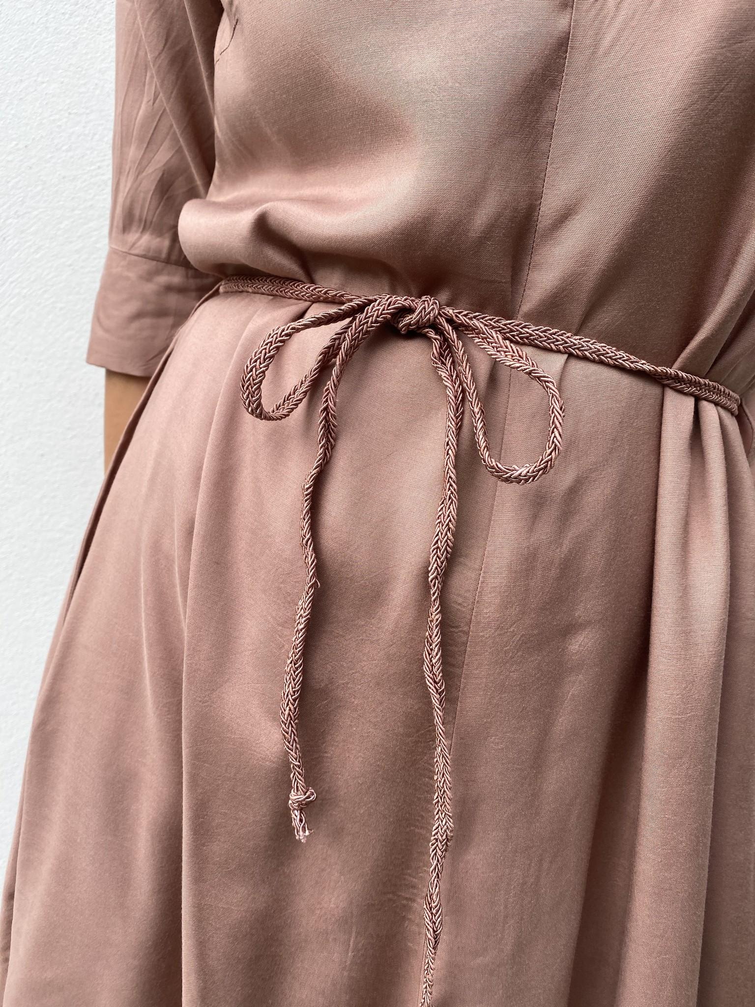 Jurk CRJilva dress eco vero rose brown-4
