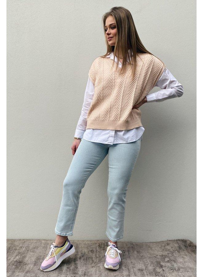 Trui spencer CRMahima sleeveless pullover peach dust