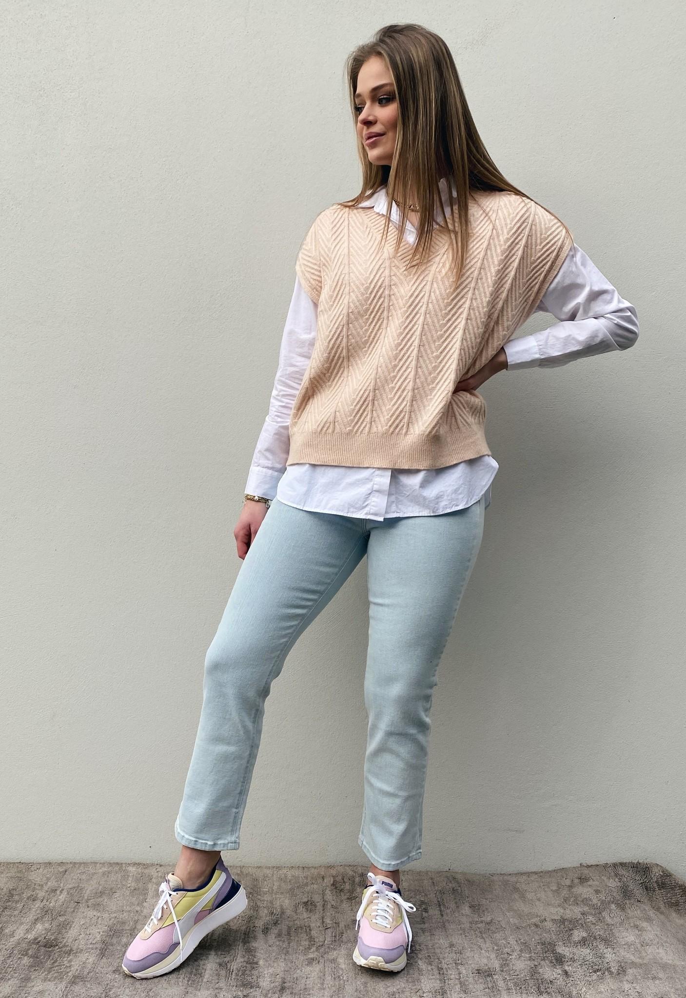 Trui spencer CRMahima sleeveless pullover peach dust-2