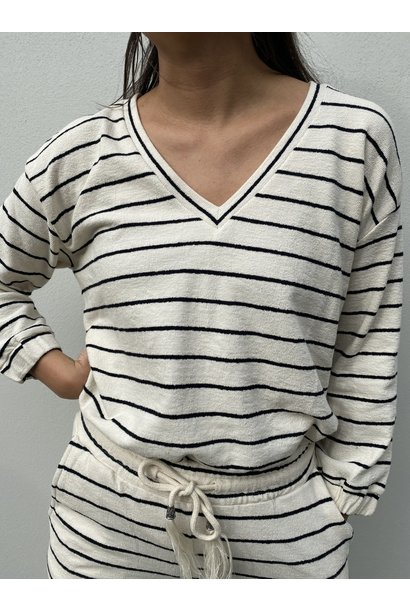 Top CRKrystala sweatshirt OC pitch black stripe