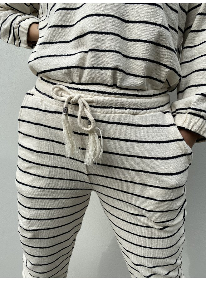 Broek CRKrystala pant OC pitch black stripe