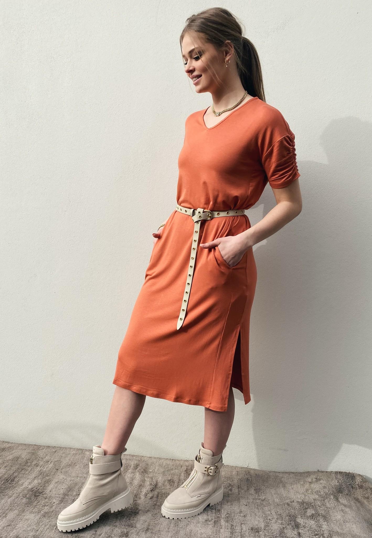 Jurk LivaCR long dress aragon-1