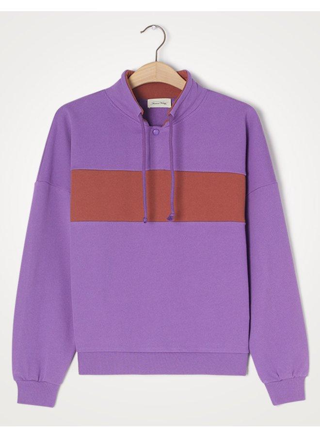 Sweater Feryway purple et tomette vintage