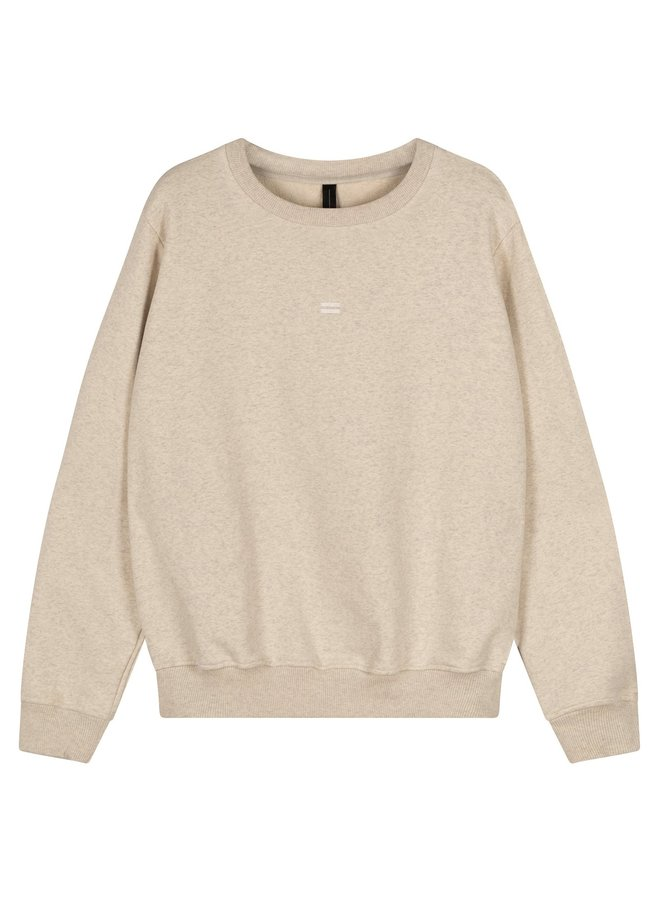 Trui sweater soft white melee NOOS