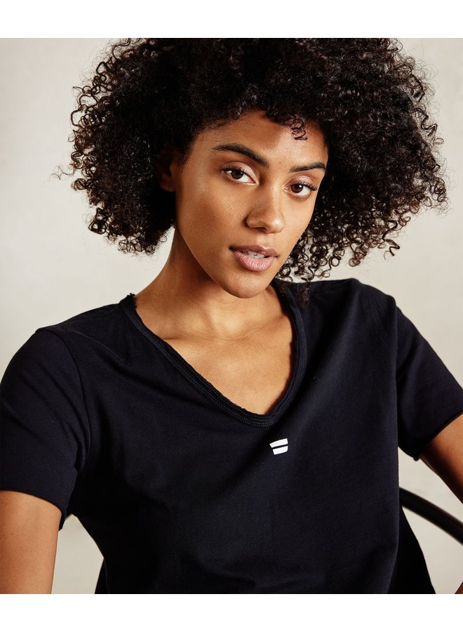 Top The v-neck tee black NOOS