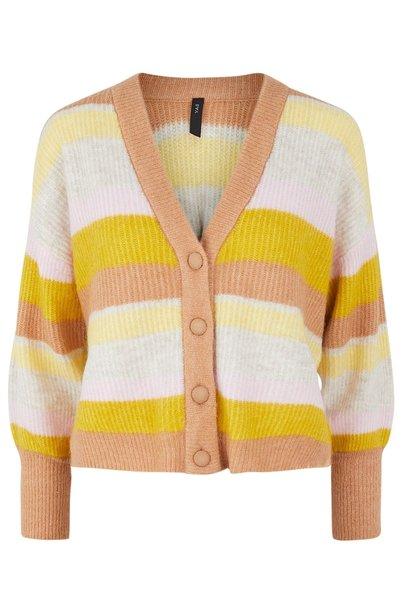 Vest Yasegga ls knit cardigan sandstorm