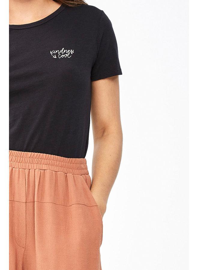 T-shirt Moly top organic jet black