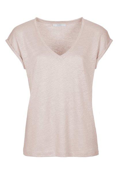 T-shirt mila linen top oyster