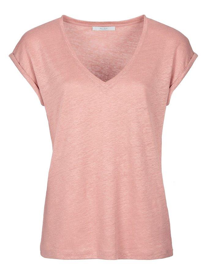 T-shirt mila linen top ash rose
