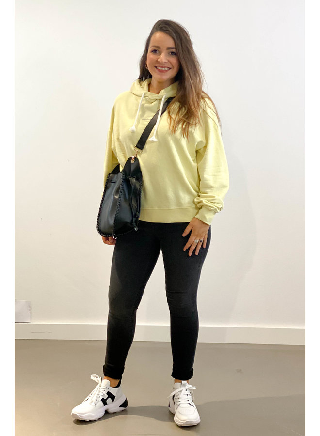 Trui oversized hoodie logo lemon