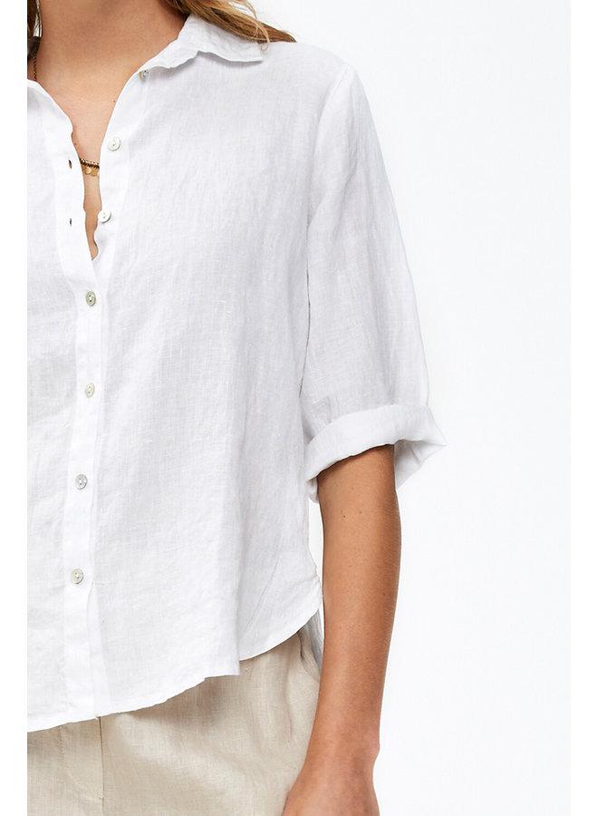 Blouse Bodil linen white