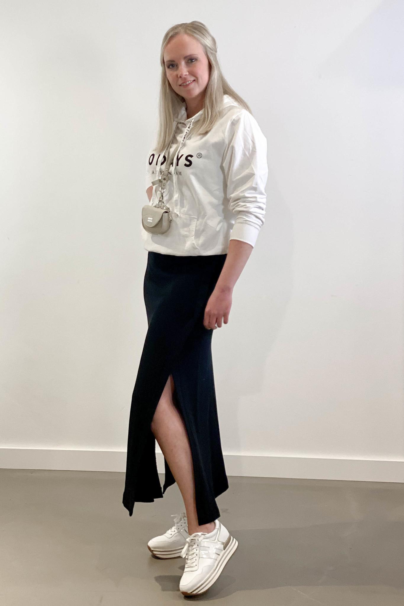 Rok belted long skirt black-3