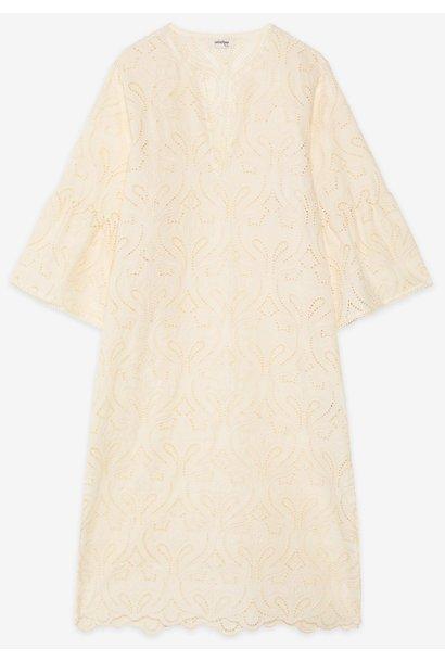 Jurk Abito embroidered cotton vaniglia