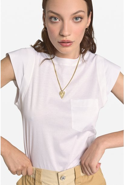 Top Camicia shaped sleeves blanco