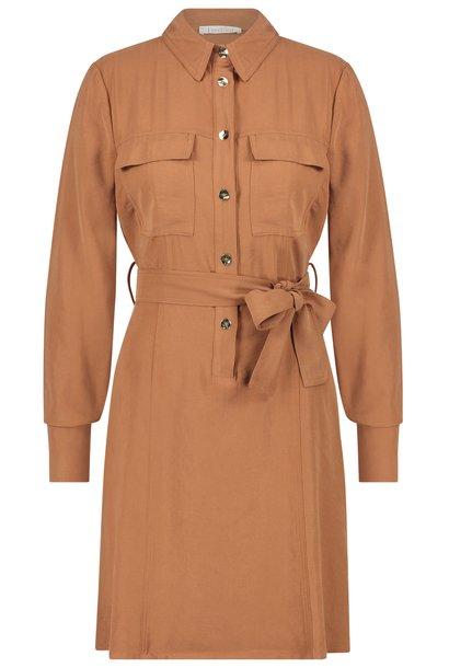 Jurk Selma mini dress brown