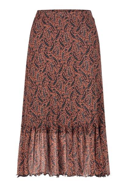 Rok Fiona midi skirt brown