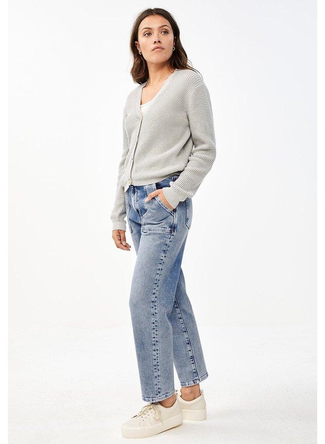 Vest Malu cardigan light grey