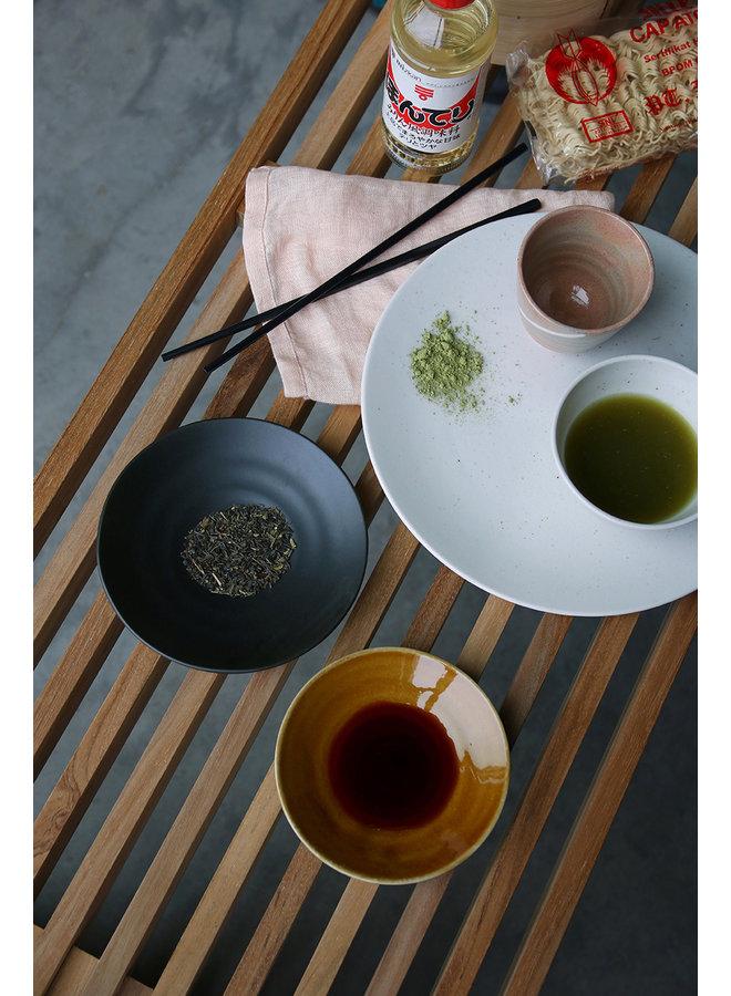 Bord Kyoto ceramics: japanese small plate brown