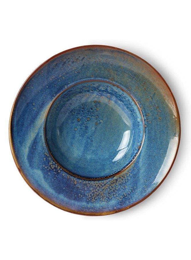 Bord Home chef ceramics: pasta plate rustic blue