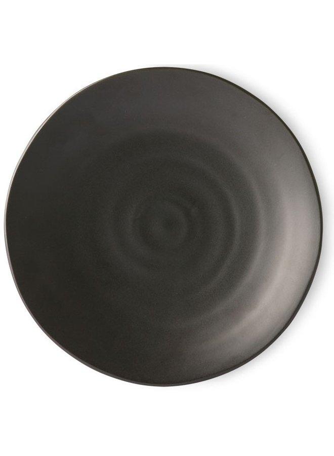 Bord Kyoto ceramics: japanese dinner plate matt black