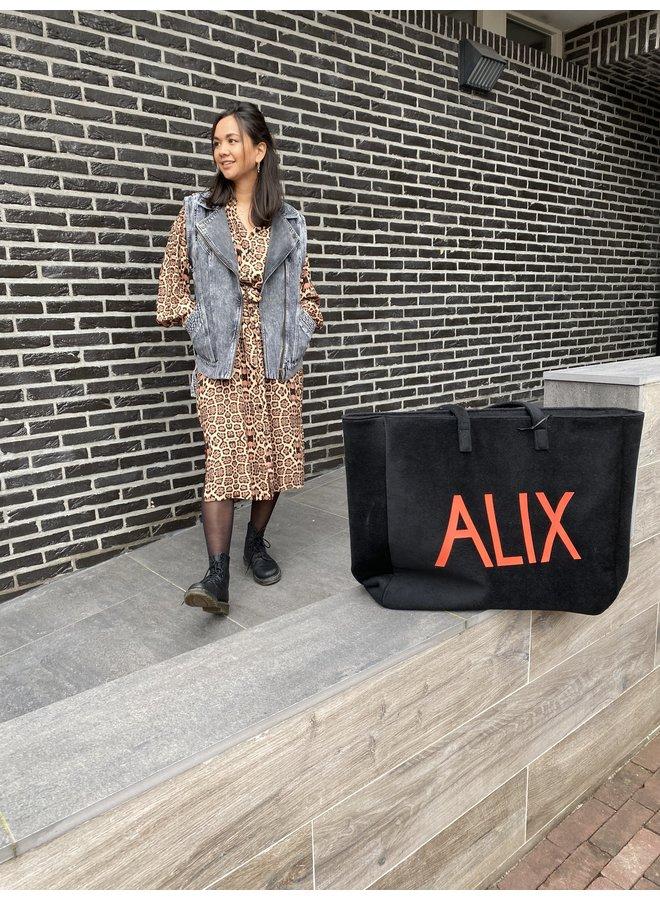 Tas ladies woven felted Alix bag black