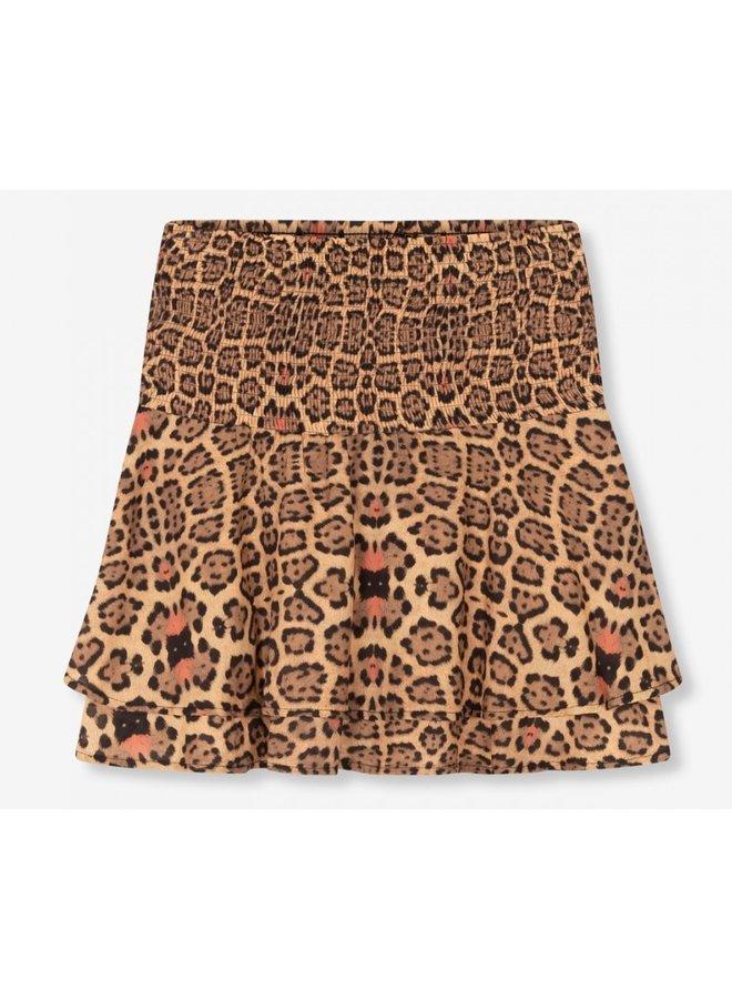 Rok ladies woven jaguar short skirt animal