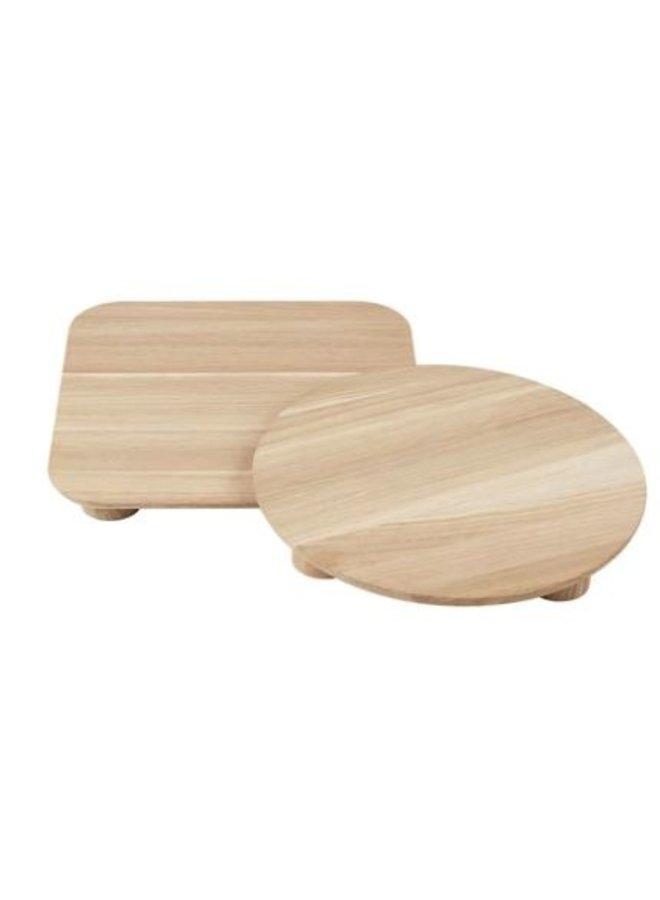 Dienblad Oak bords set of 2
