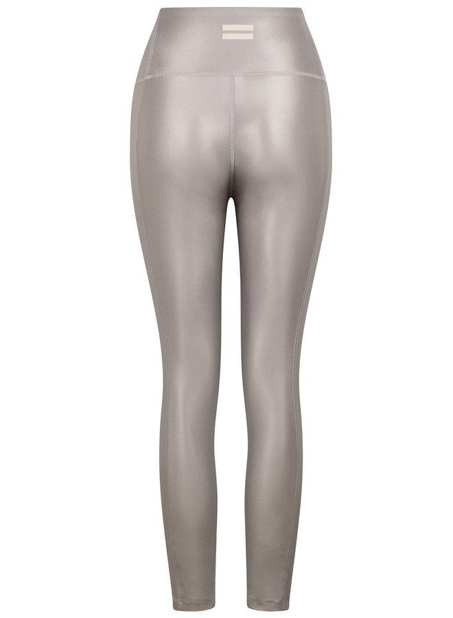 Legging yoga shiny silver