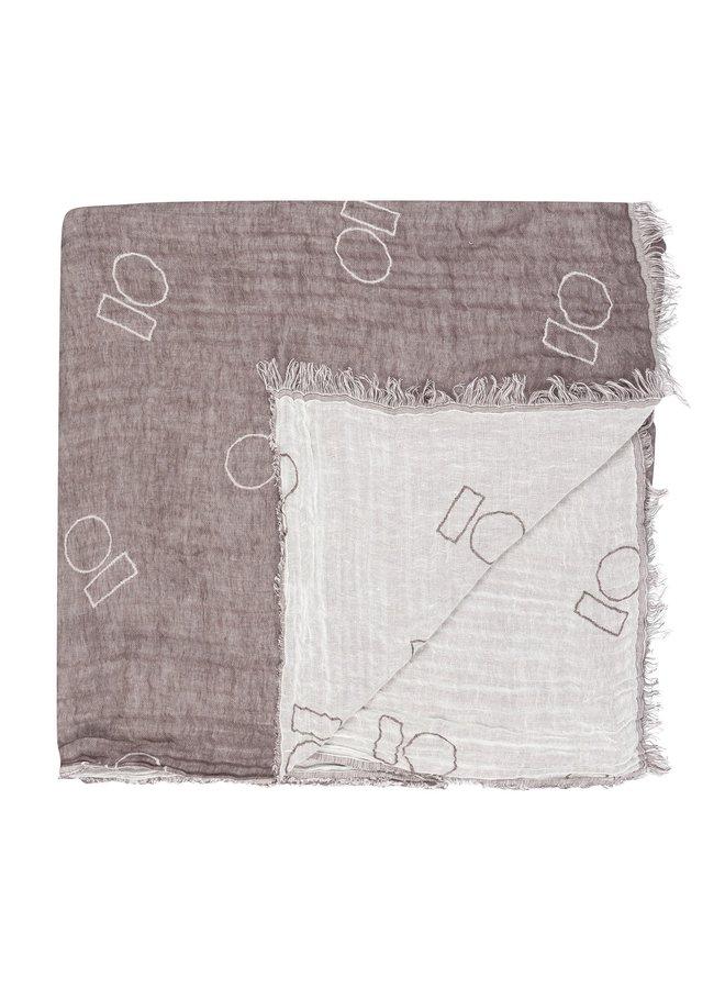 Sjaal scarf 10 block ecru