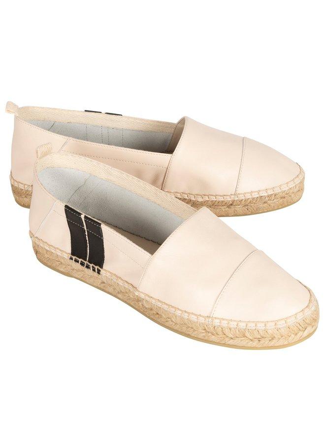 Schoenen espadrilles two stripe ecru