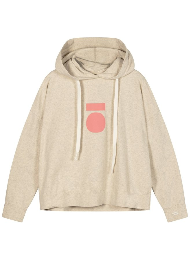 Trui sweater hoodie medal soft white melee