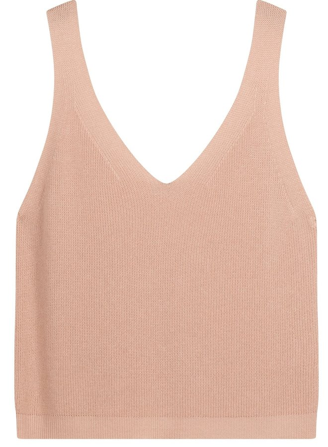 Top zonder mouw knit dirty pink