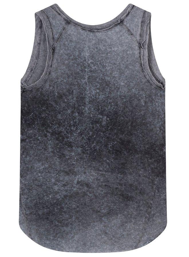 Top zonder mouw sleeveless top dark grey blue