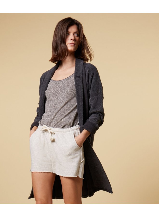 Shorts fleece soft white melee