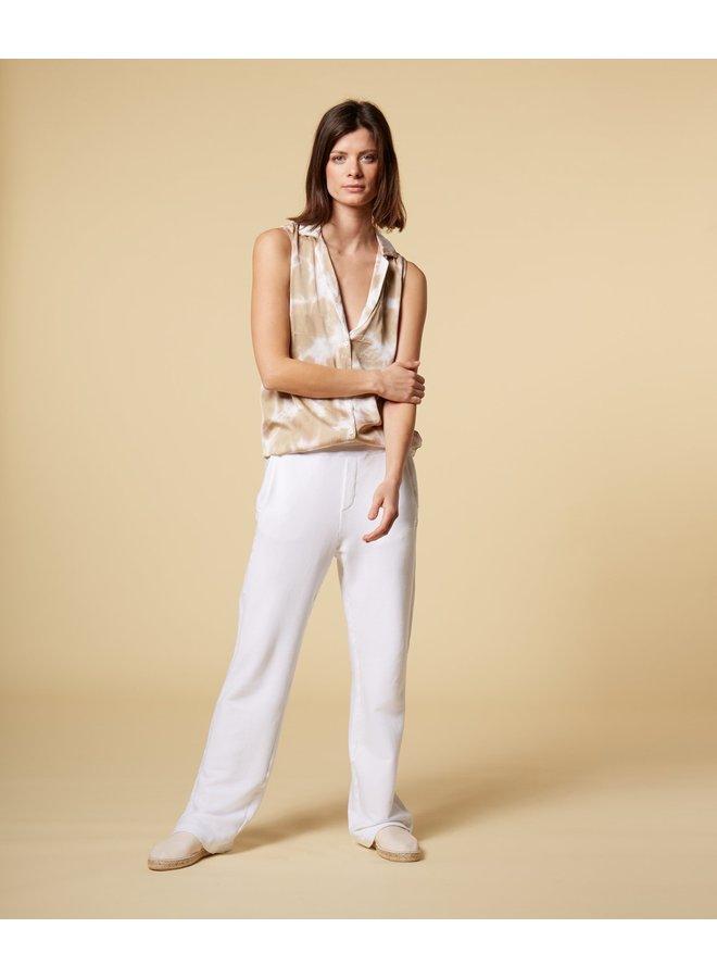 Broek pants linen white