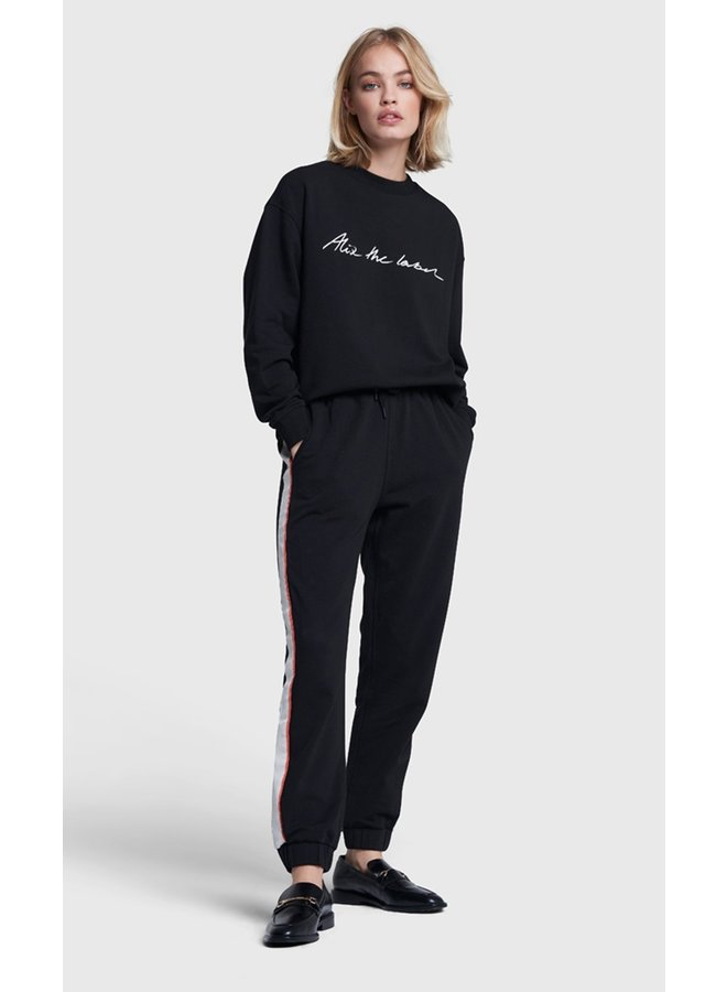Sweater Ladies knitted alix the label sweater black