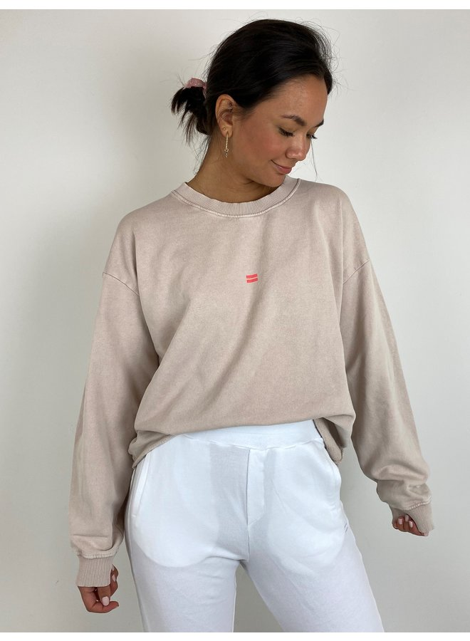 Trui soft sweater washed dirty pink