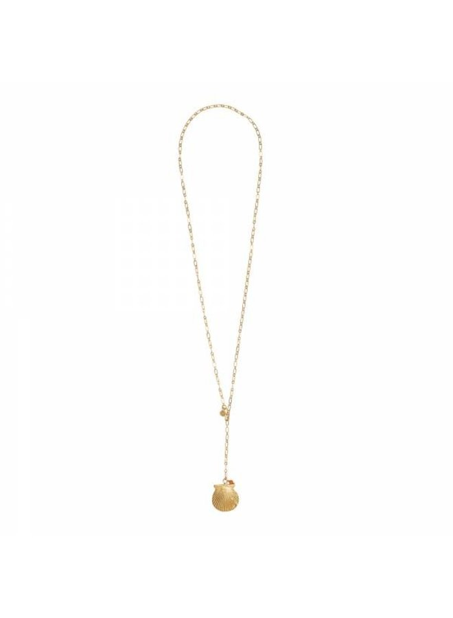 Ketting Comfort carnelian gold necklace