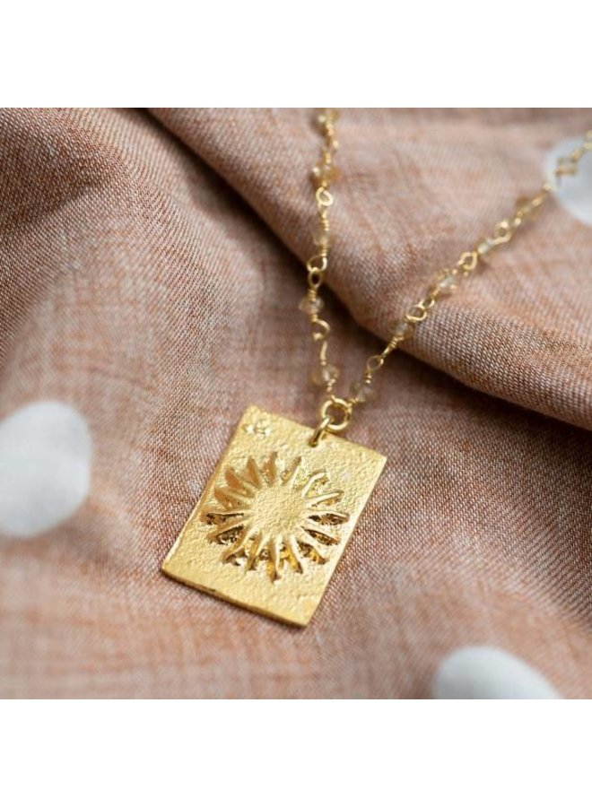 Ketting Radiate citrine gold necklace