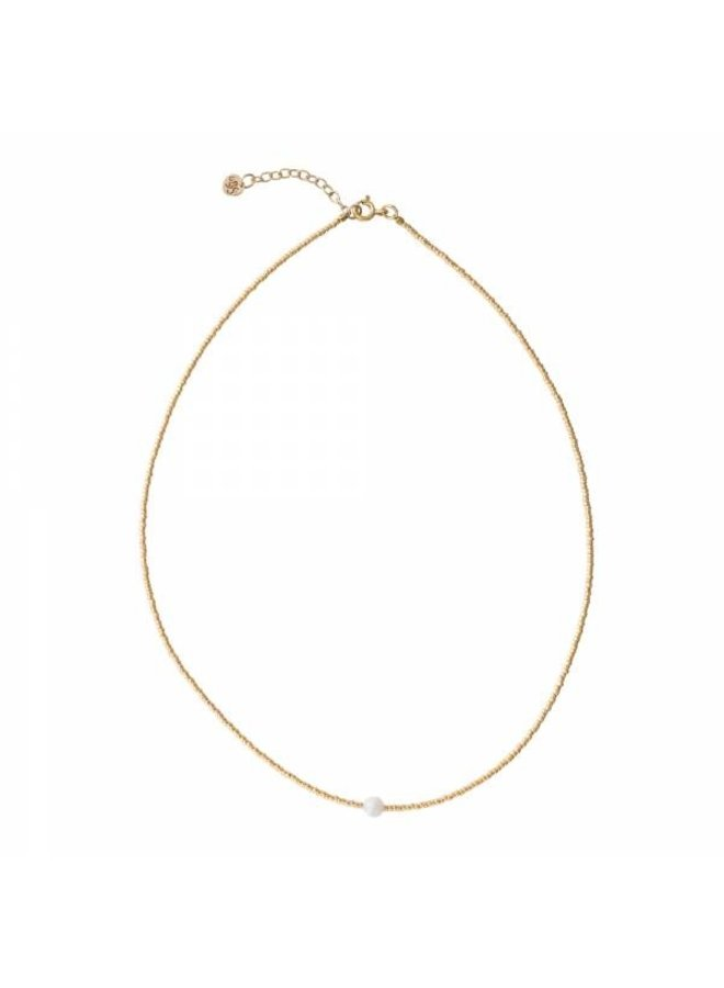 Ketting Flora Moonstone Gold Necklace