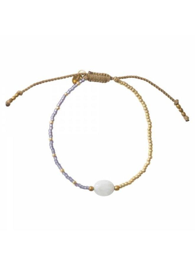 Armband Ruby Moonstone Gold Bracelet