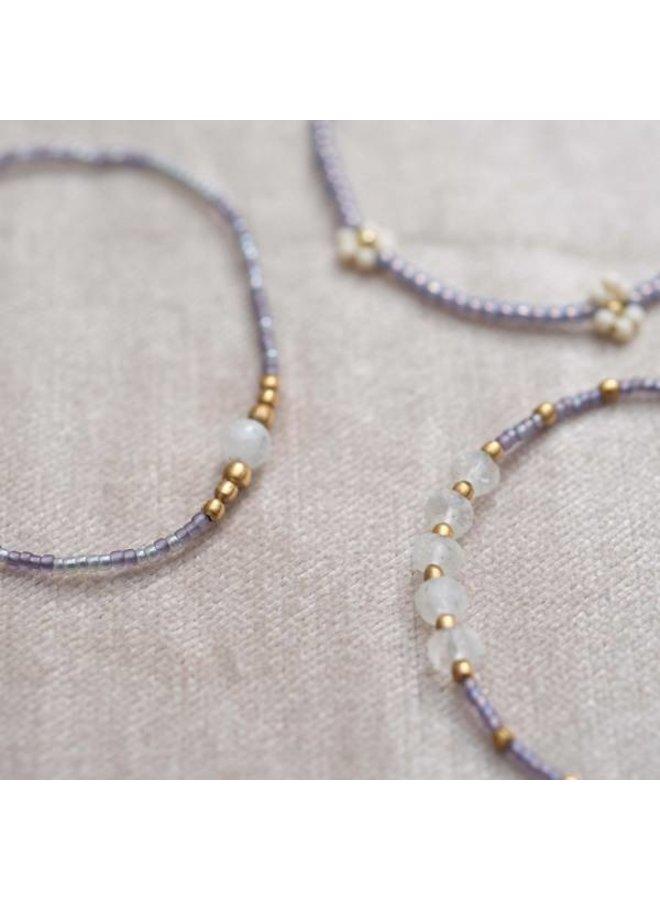 Armband Family Moonstone Gold Bracelet