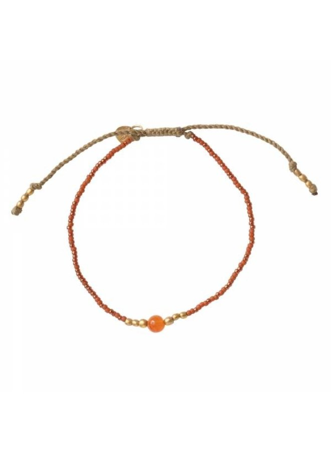 Armband Iris Carnelian Gold Bracelet